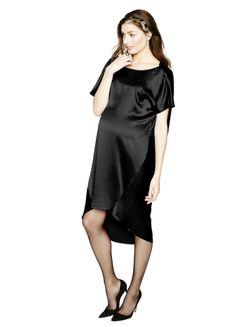 HATCH Collection The Cowl Back Dress in black #intotheblack #HATCHland  Shop it:  http://hatchcollection.com/shop/product/the-cowl-back-dress/