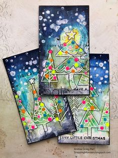 Simon Says: Stamp It - Simon Monday Challenge Blog Religious Christmas Cards, Christmas Tree Cards, Christmas Holidays, Merry Christmas, Christmas Decorations, Hannukah, New Year Card, Small Cards, Artist Trading Cards