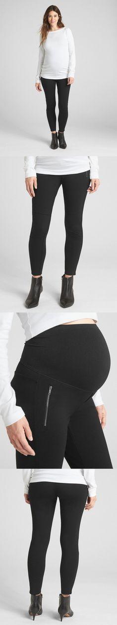 0c52bbee00465 Pants 63857: Nwt Gap Maternity Full Panel Leggings In Velvet Black, Medium  -> BUY IT NOW ONLY: $16 on #eBay #pants #maternity #panel #le…   Pants  63857 ...