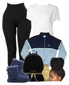 """This Is Cute"" by goddessnaii ❤ liked on Polyvore featuring R13, adidas, MICHAEL Michael Kors, UGG Australia and GUESS"