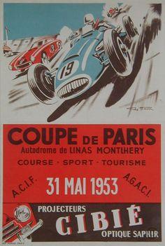 Coupe de Paris 1953 -  illustration de Geo Ham