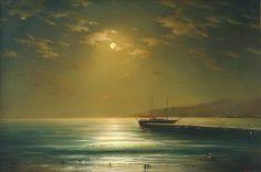 Moon On a Calm Sea.jpg (900×598)