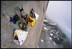 From traveler/photographer extraordinaire Gordon Wiltsie's portfolio:  http://dirt.mpora.com/wp-content/uploads/2010/08/cliff-tent.jpg