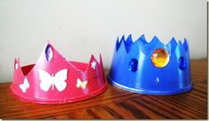 Make a crown out of a cool whip container