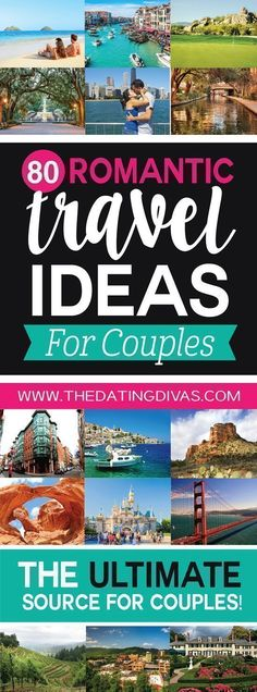 This is seriously the ULTIMATE list of romantic vacation ideas for couples! Perfect for a romantic anniversary trip, honeymoon, or couples getaway! Pinning for later! www.TheDatingDivas.com #romantictrips #romanticcouples #romanticvacationideas #vacationideas