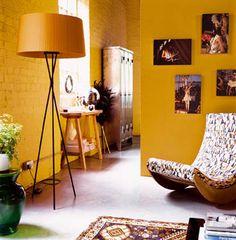 Color mostaza para paredes