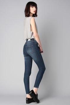 Jeans skinny taille haute Hight Spray