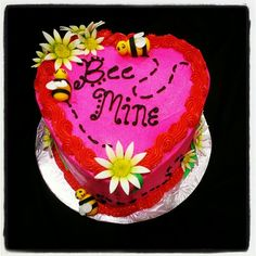 Bee Mine Valentine Cake