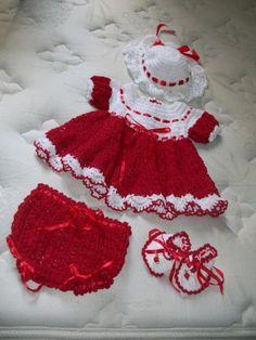 Mary Helen artesanatos croche e trico: Vestidos crochê bebê