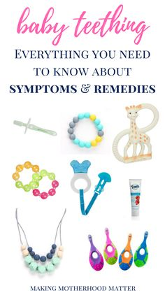 Baby teething symptoms can begin as early as a few months old. For new and seasoned parents alike, baby teething can be a challenging phase, as most babies experience discomfort associated with their teeth breaking through their gums. Click here to find everything you need to know about common baby teething symptoms and remedies, including the top 10 baby teething symptoms and 5 effective baby teething remedies for babies under one.