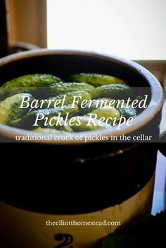 Barrel Fermented Pickles Recipe