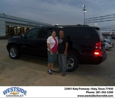 #HappyAnniversary to Sandra M Cortez on your 2013 #Chevrolet #Suburban from Jose  Palos  at Westside Chevrolet!