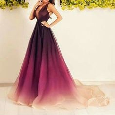 New Arrival Sexy Prom Dress,Prom Dress,Burgundy Prom Dress,Long Ombre Wine Red Evening Dress