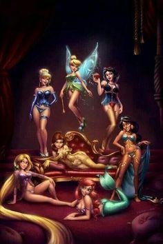 Disney Princesses pin up