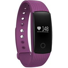 Efanr ID107 Smart Bracelet Band Watch Bluetooth Smartband Wristband Smartwatch Wristwatch Pedometer Fitness Activity Tracker Heart Rate Monitor for iPhone IOS Android Smartphones (Purple) -- More info could be found at the image url. (This is an affiliate link) #SmartWatches