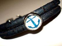⚓⚓ Maritimes Kork Armband dunkelblau vegan ⚓⚓