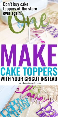 Make cake toppers with Cricut Free SVG models, Cricut Cake, Cricut Craft Room, Cricut Vinyl, Vinyl Projects, Diy Craft Projects, Project Free, Cricut Tutorials, Cricut Ideas, Maker