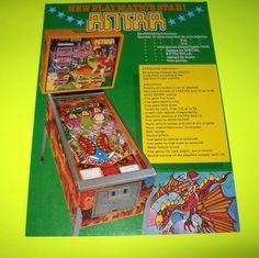 ANTAR By PLAYMATIC 1979 ORIGINAL PINBALL MACHINE SALES FLYER BROCHURE SPANISH #Antar #PlaymaticPinball #PinballMachineFlyers