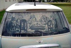Dirty Car Window Art Pictures | Cool Pictures | Cool Stuff
