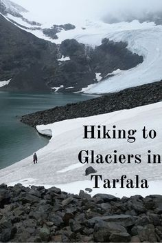 Hiking to beautiful glaciers hidden within the mountains in Swedish Lapland. Europe Travel.