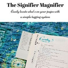 Explanation of how the hack with signifiers at the top corner of the pages works is up on the blog now 😊 Also make sure to subscribe to the newsletter to receive a special issue of the Sunny Newsletter detailing all the latest news that's been happening! 🌞 #bulletjournal