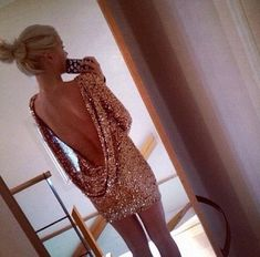 Backless sparkly dress