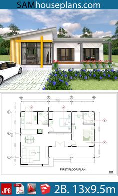 House Plans Full Plan – Sam House Plans House Plans Full Plan – Sam House Plans Image Size: 980 x Simple House Plans, My House Plans, Simple House Design, Minimalist House Design, Modern House Design, House Floor Plans, The Plan, How To Plan, Bungalow Haus Design