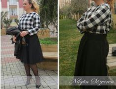 Nilgun sozveren-tartan dress