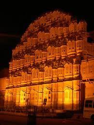 Hawa Mahal, Fort, its latticed windows and stone screen add charm in it. Hawa Mahal was built by Sawai Pratap Singh.
