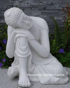 Medium Marble Resin Resting Buddha Ornament | Woodside Garden Centre | Pots  To Inspire | Enigma Marble Resin Garden Statues And Ornaments | Pinterest  ...