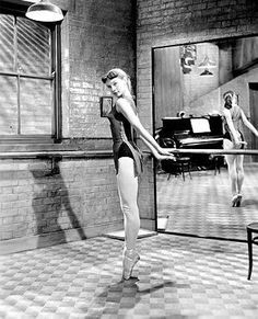 Audrey Hepburn rehearsing for a role in The Secret People 1951.