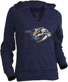 Old Time Hockey Nashville Predators Women's Blasted Long Sleeve Hoodie T-Shirt - Shop.NHL.com