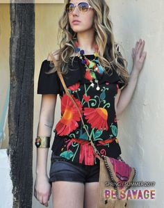 Savage Culture: Off-The-Shoulder Pink Lemon Peel Sangria Tunic Reny, $83.00. A Pink Lemon peel Sangria flower print on this off the shoulder flirty tunic perfect for those lazy Summer days when looking hot is still a must! Only on WC!