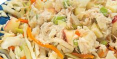 Crunchy Tuna Salad over Sweet and Tangy Slaw