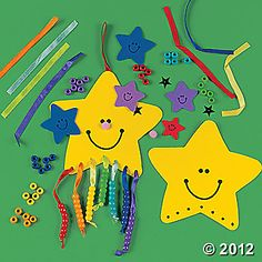 Kids color their star yellow; each of the beads below represents children promised to Abraham and Sarah by God ~by Terri