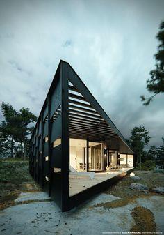 """Popatrz na ten projekt w @Behance: """"Archipelago House""""…"""