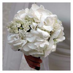bouquet da sposa -ortensie bianche