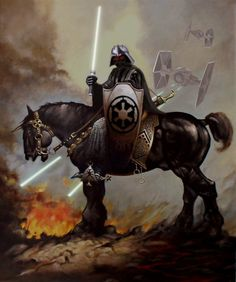 Star Wars ~ Heavy Metal Darth Vader, who may be part Ring Wraith!