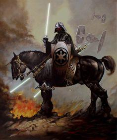 Darth Vader Frazetta Style