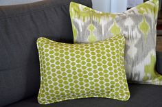 Make an envelope pillow cover with piping