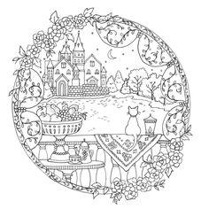 Romantic Country Coloring Book ; Livro de colorir