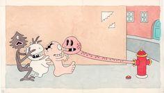 佐々木マキ《おばけがぞろぞろ》1988年 (C) Maki Sasaki, 1994