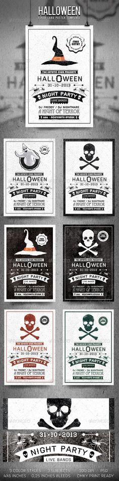 Typography Halloween Flyer | #flyer #cartel #design #graphicdesign #diseño…