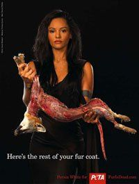 Persia White Exposes Bloody Truth Behind Fur in Graphic PETA Ad | PETA.org