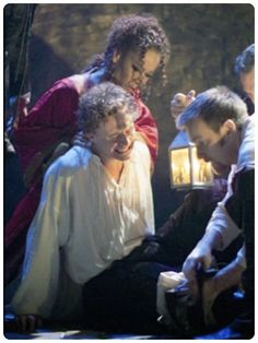 Othello: Tom Hiddleston (Cassio) and Ewan McGregor (Iago). Wish I could have seen this!!!