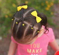 Little Girl Braids Easy Toddler Hairstyles, Cute Hairstyles For Kids, Flower Girl Hairstyles, Little Girl Hairstyles, Braided Hairstyles, Formal Hairstyles, Kids Hairstyle, Hairstyles 2016, Teenage Hairstyles