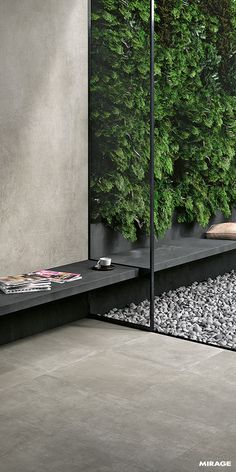 With Mirage, you can choose the same flooring/paving inside . balcony tiles With Mirage, you can choose the same flooring/paving inside . Concrete Look Tile, Smooth Concrete, Concrete Paving, Concrete Houses, Outdoor Landscaping, Outdoor Gardens, Indoor Garden, Floor Design, House Design