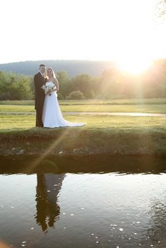 Bride and Groom, sunset reflection    www.easphotography.biz