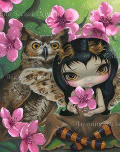 Jasmine Becket-Griffith Art | ... flower cherry blossom fairy art print by Jasmine Becket-Griffith 8x10