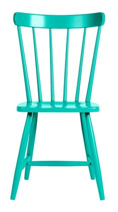 """An updated version of the classic New England grange chair: a little bigger, made of solid maple. Available in one of 46 coastal colors.The Boothbay Dining Chair measures 18""""W 18""""D 34""""H."""